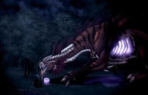 The Crimson Dracolich by Ghostwalker2061