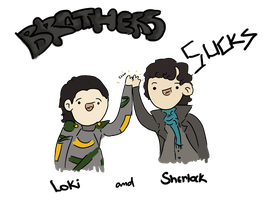 Poor Thor and Mycroft - BBC Sherlock and Loki by dailygranger