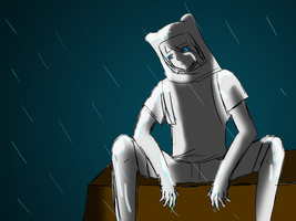 Sketchy Finn in the Rain Doodle by Snowstorm102