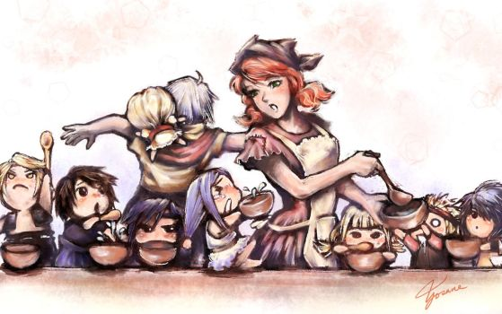 FFXIII AU Ficpic: Vanille at the Orphanage by Yosane