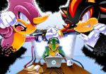 Espio Vs Shadow by spydaman