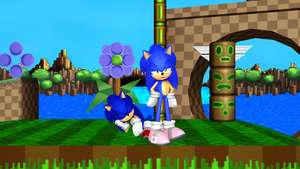 Sonic and Sonyca - Green Hill Zone Stroll by MephistaTheDark