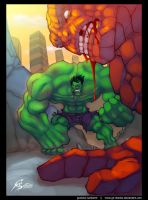 Hulk vs The Thing Fan Art by GS-Dracko