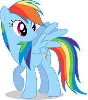 Rainbow Dash Vector #01 by Spaz-Featherbrain