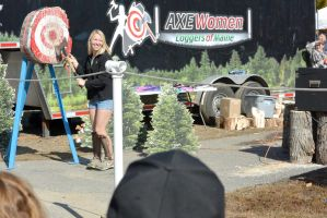 Topsfield Fair, Axewomen Loggers of Maine 8 by Miss-Tbones
