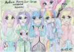Mobian Mane Six + Spike (newer version) by SkyCircle777