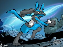 Pokemon Art Academy- Lucario by SusanLucarioFan16