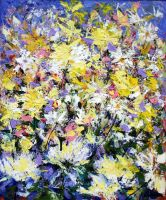Abstract Floral 50cm x 60cm by zampedroni