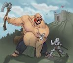 Giant fight! by Pachycrocuta