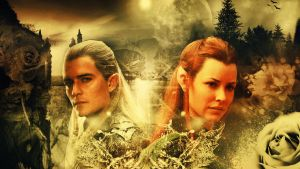 Tauriel and Legolas by Super-Fan-Wallpapers