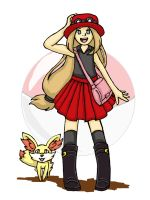 Pokemon X n Y Female trainer by deidaratk