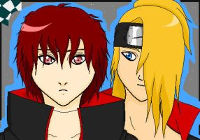 .:Sasori and Deidara:. by Kill-Bloody-Rosesxxx
