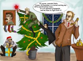 Communist Christmas by Chater
