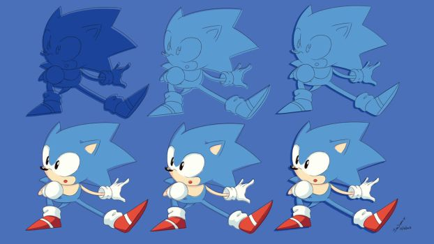 pack wallpaper Classic Sonic by InnSomnio