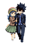 Gray and Juvia - Fairy Tail (Render) by Namyle