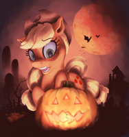 Applejack-o-Lantern by WilhelmGottfried