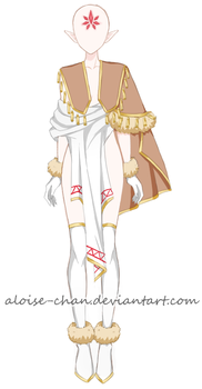 [OPEN 16$] Forest Ghost Outfit Adoptable by Aloise-chan
