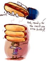 Tiny Frisk Hotdogs by Friendlyfoxpal