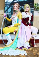 Terra Branford  and Celes Chere I by EnchantedCupcake