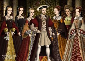 King Henry VIII of England and his Bitches by MoonMaiden37