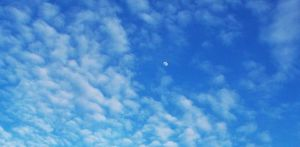 Moon in a March sky by MystMoonstruck