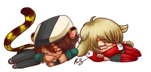 Tiger and Bunny Chibis by PomSpom