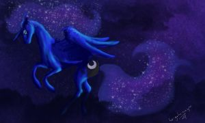 Princess Luna by La-gato-negro