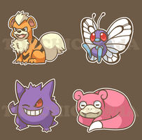 Pokemon Sticker Sheet 3 by spiffychicken