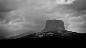 Chief mountain on a rainy day by marpe11