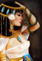 Cleopatra and the Serpent by solocosmo