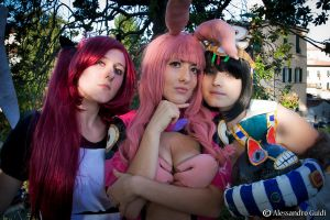 Menace, Melona and Airi Queen's Blade by xRika89x