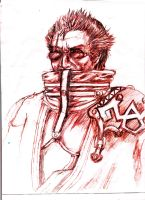 Auron Face by BaiHu27