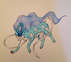 Suicune - Traditional by AidoandLyla