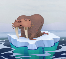 Stylized Walrus by WonderDookie