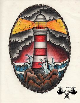 tattoo-flash lighthouse 03 by Tausend-Nadeln