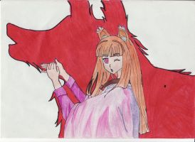 Spice and Wolf by AnitaLizLaCapeMinnie