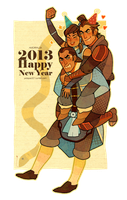 Happy New Year 2013 by freestarisis