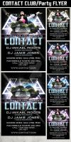 Contact Party Flyer Template by Hotpindesigns