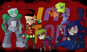 Zim Titans Go!!! by NeoWolfgang