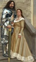 knight and maiden by mythrilgolem1