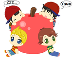 Ness, Ninten, Lucas, and Travis by Ca14