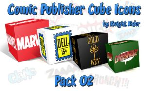 Comic Publisher Cube Icons-02 by KnightRider-SQ