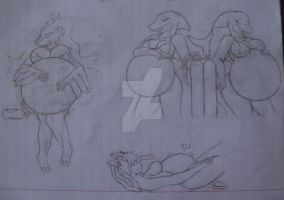 Unfinished drawings #5 by Day-Tripper-Guy