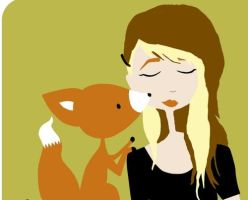 me and my pet fox by carcrashinghearts