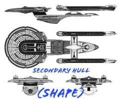 Saucer and secondary hull by Kal-el4