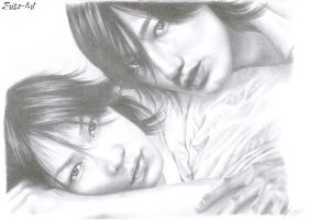 Jin and Kame by Erisz
