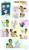 Doctor Whooves and Derpy by nooby-banana