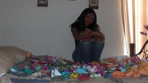 Me and some of my origami by JoyBundle012