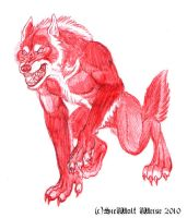 Agry Red WereWolf by Lorfis-Aniu