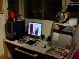 My working area1 by SadlyLover